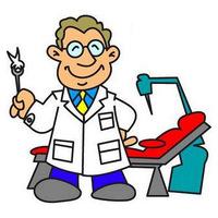 desenho de dentista e escova de dentes para colorir